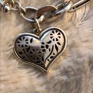 Brighton Jewelry - Brighton Silver Heart Pendant Bracelet.